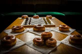 donuts and a chessboard