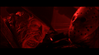 Freddy and Jason fight