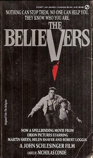 Poster for the movie, The Believers, 1987