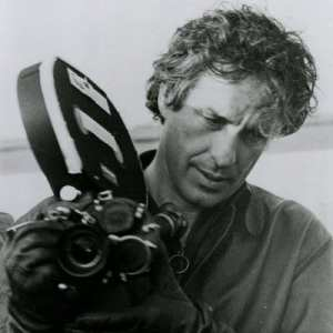 John Cassavetes prepares another shot during filming.