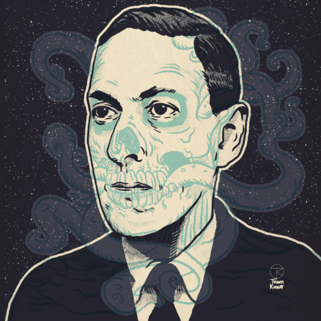 A 3-D picture of H.P. Lovecraft