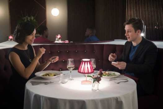 "Amy and Frank on a date in Black Mirror's ""Hang the DJ"""