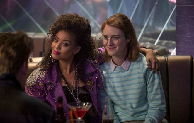 "Kelly and Yorkie looking 80s in Black Mirror's ""San Junipero"""