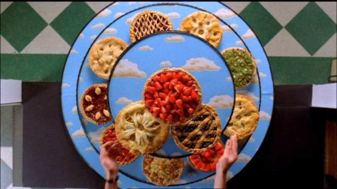 An arrangement of pies from The Pie Hole in Pushing Daisies