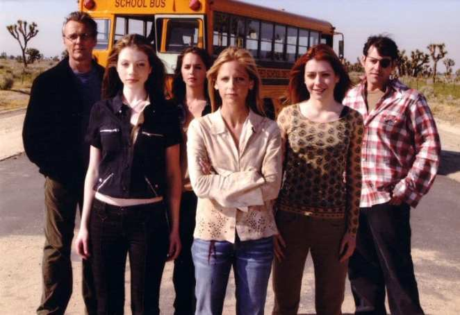 The whole team of friends and family in Buffy