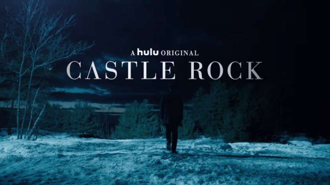 Title cover for Castle Rock, the Hulu original series, starring Bill Skarsgard, written by Stephen King