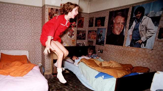 Janet Hodgson 'levitates' on camera during the Enfield haunting