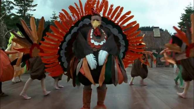 The Thanksgiving pageant scene from The Addams Family Values
