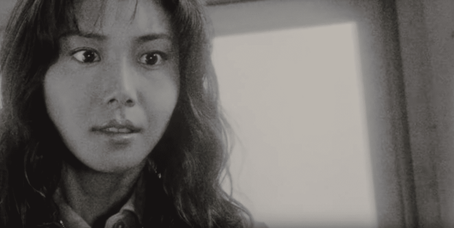 Asakawa in the midst of a vision in Ringu (1998)
