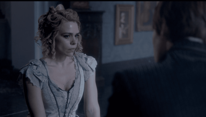 Lily (Billie Piper) says her goodbyes to Dorian Grey (Reeve Carney) in the Season 3 Finale of Penny Dreadful