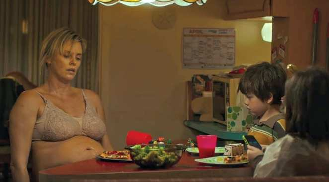 Charlize Theron stars in the Jason Reitman-directed Tully