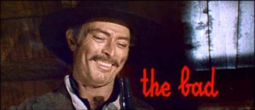 Lee Van Cleef as Angel Eyes in The Good, the Bad and the Ugly