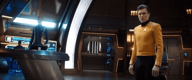 Captain Christopher Pike on the bridge in Star Trek Discovery