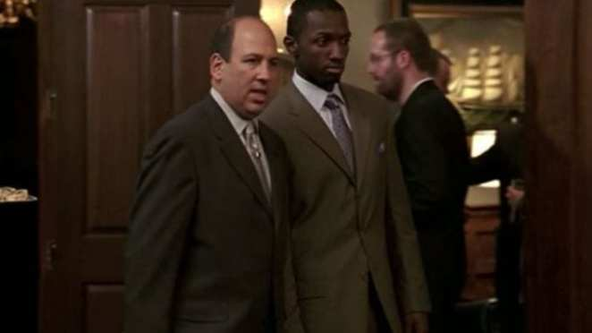 Marlo Stanfield with his lawyer Maurice Levy in the series finale of The Wire