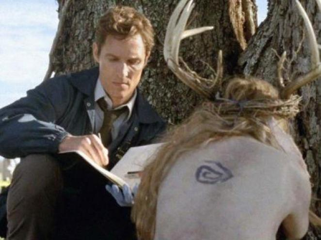 The Crooked Spiral tattoo from True Detective S1
