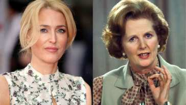 Gillian Anderson who'll be playing Margaret Thatcher in Season 4 of The Crown