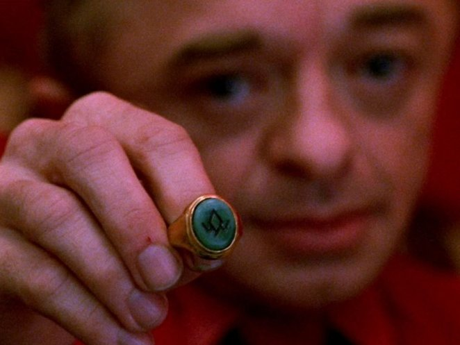 The Little Man from Another Place shows us the Owl Ring, in Twin Peaks