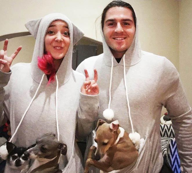Jenna Marbles, Julien Solomita,and dogs of the JennaJulien Twitch stream