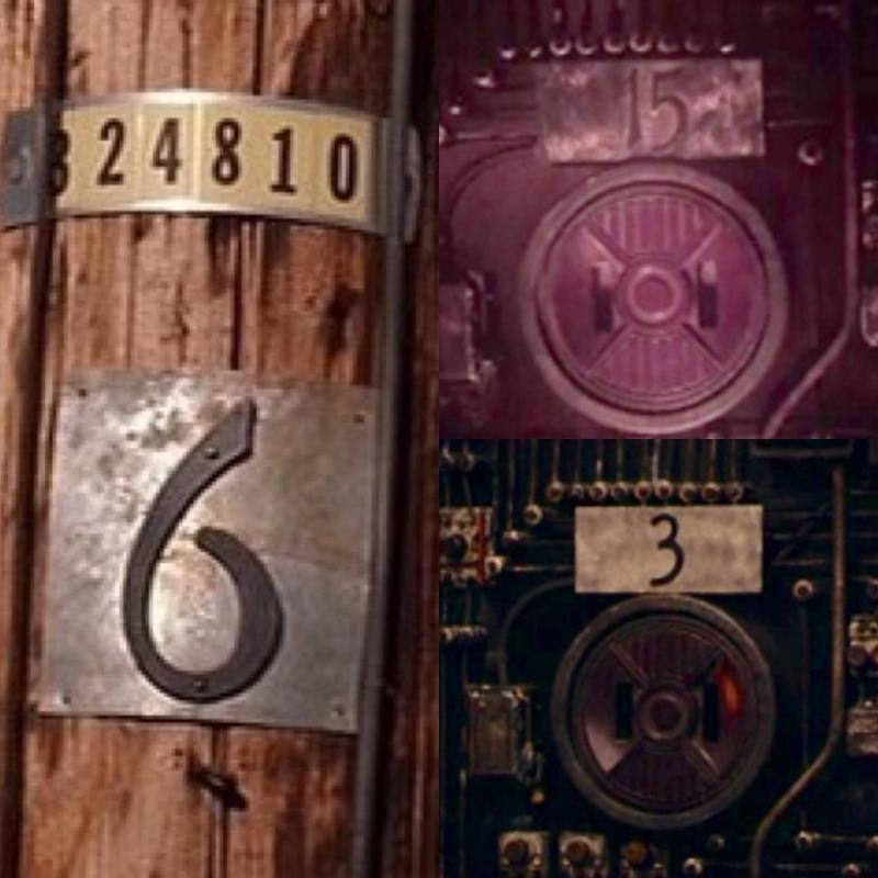 The telephone poles and electric sockets in Twin Peaks