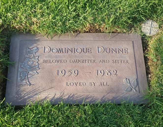 Grave stone of Dominique Dunne from Poltergeist
