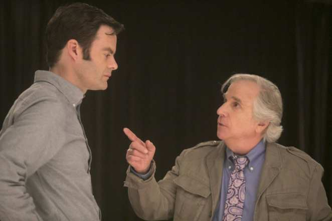 Gene Cousineau gives Barry Berkman acting advice in Barry.
