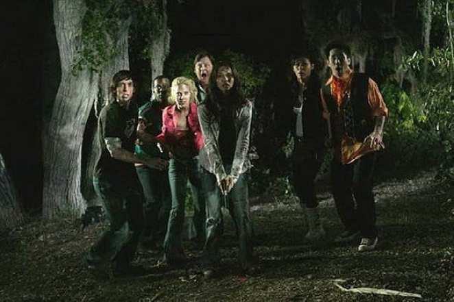 The cast of the horror film Hatchet