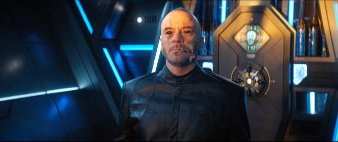"""Leland under the control of Control in Star Trek: Discovery Season 2 Episode 11 """"Perpetual Infinity"""""""