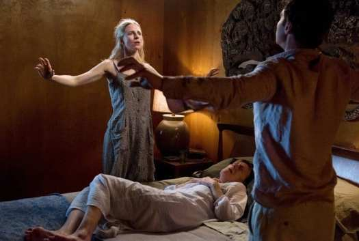 Prairie and Homer curing Evelyn in Season 1 of The OA