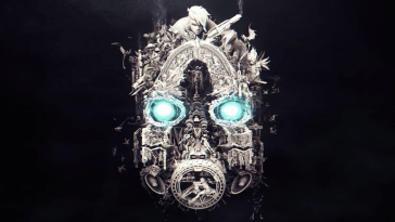 The Final shot of the mask from the Mask of Mayhem teaser for Borderlands 3