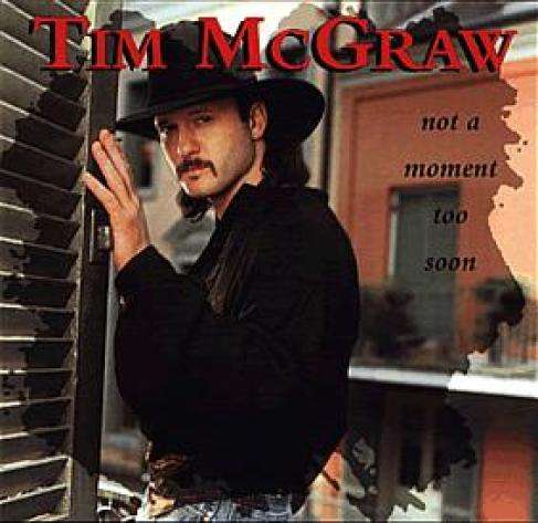 The album cover for Tim McGraw's album Not A Moment Too Soon.
