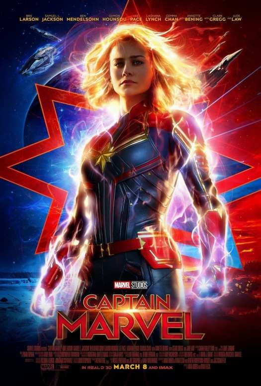 Brie Larson is featured on the poster for Captain Marvel