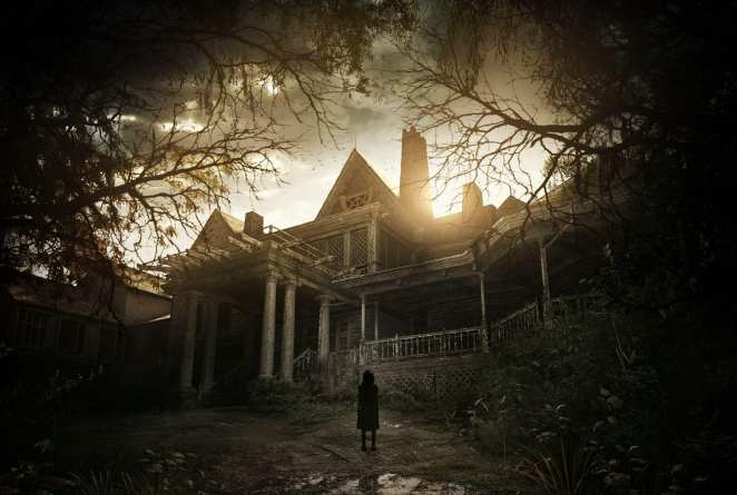 The Baker Mansion in some promo art for Resident Evil 7