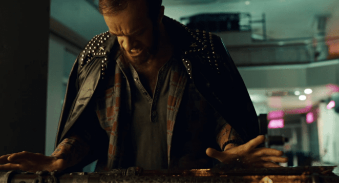 "By the power of Lou Reed's jacket, Wednesday's spear is brought back to life in American Gods ""Donar the Great"""