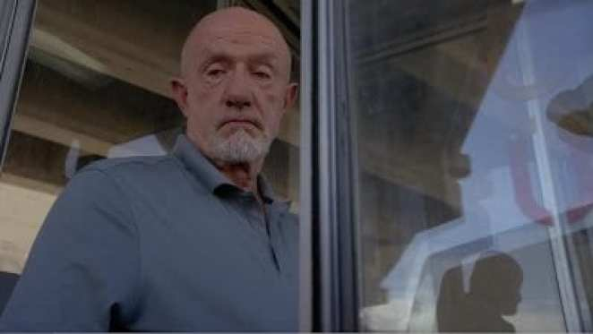 """Jonathan Banks as Mike Ehrmantraut in the Better Call Saul pilot episode """"Uno"""""""