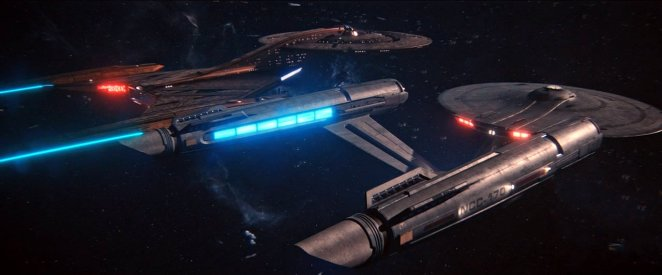 "The Discovery and the Enterprise rendezvous in Star Trek: Discovery Season 2 episode 13 - ""Such Sweet Sorrow"""
