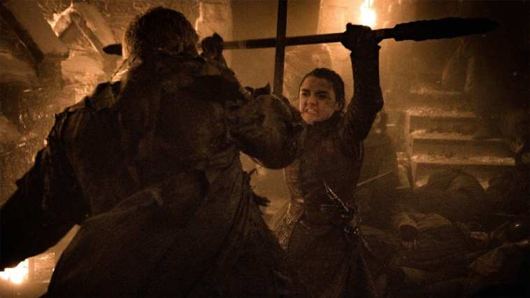 Arya fights wights in the Long Night