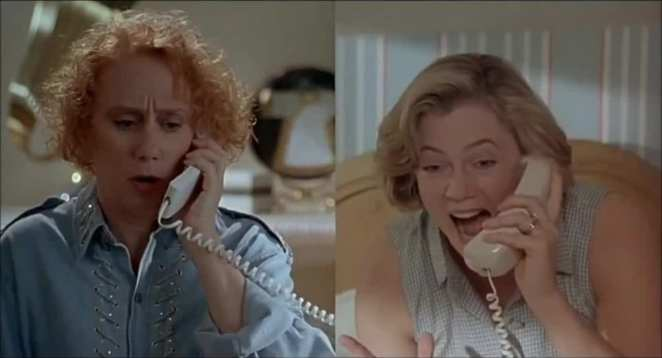Mink Stole and Kathleen Turner as Dottie and Beverly in Serial Mom
