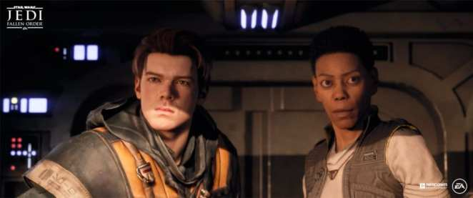 Cal and Cere from Jedi Fallen Order
