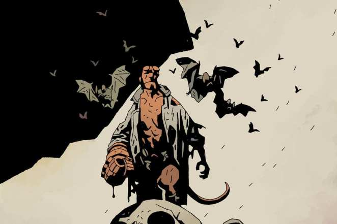 Hellboy as depicted in the comics