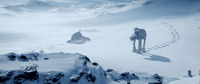 Snow on the planet Hoth