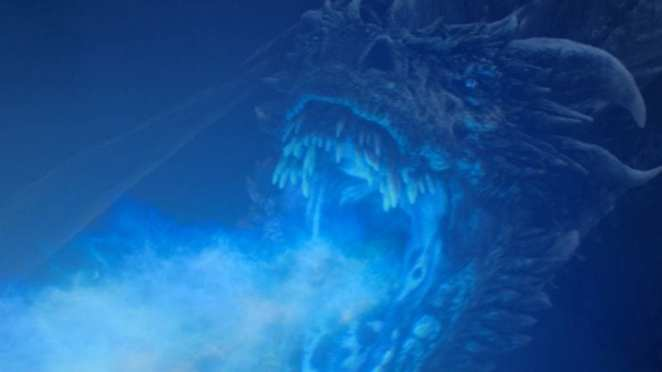 Viserion the reanimated dragon in Game of Thrones The Long Night