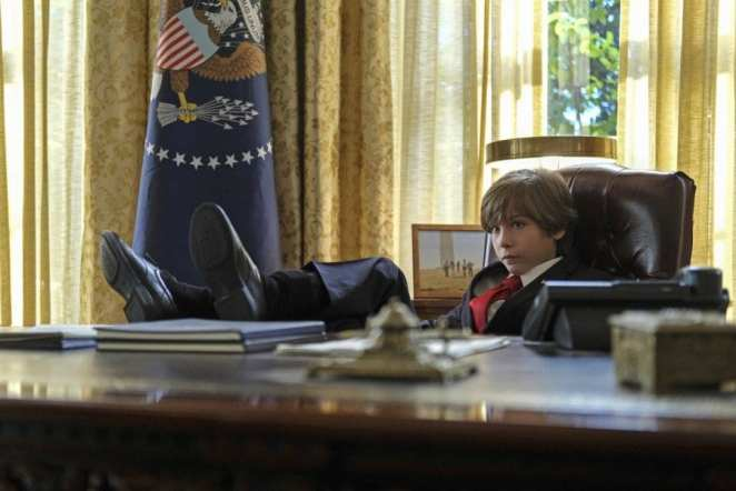 "Jacob Tremblay as unlikely President, 11-year old Oliver Foley in The Twilight Zone, ""The Wunderkind"""