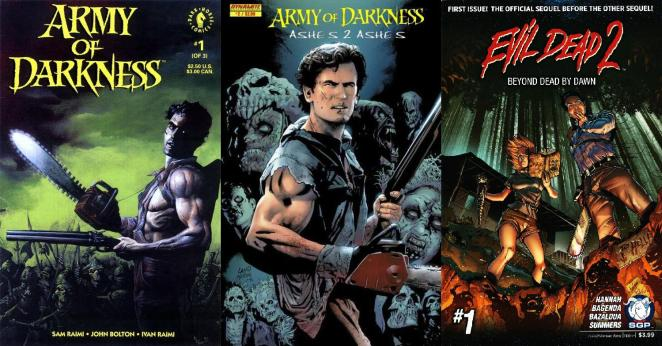 The Evil Dead has lived in comic book form from 1992 onwards.