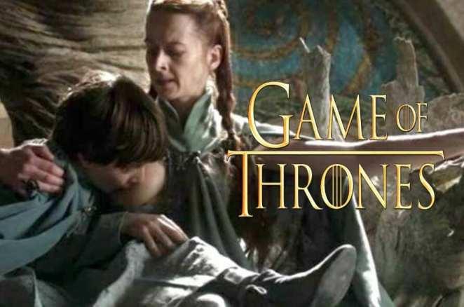 Robin Arryn breastfeeding in Game of Thrones