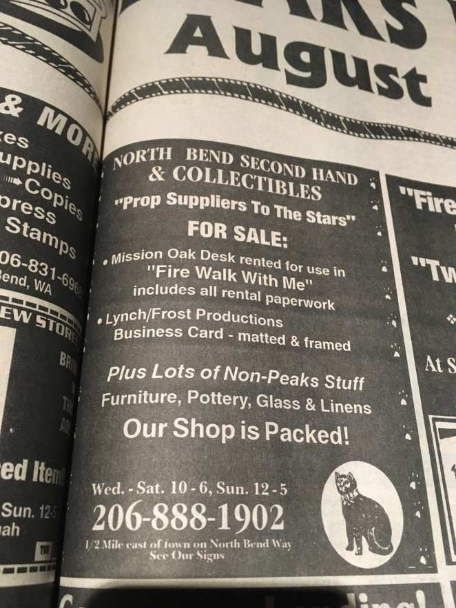 Clipping from Snoqualmie Valley Record North Bend Second Hand collectibles