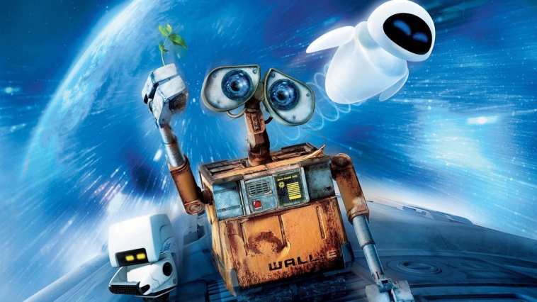 wall-e, eve, plant, space