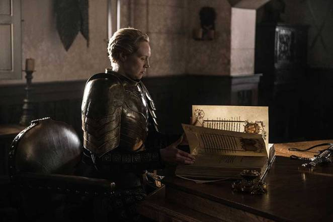 Brienne writes the end of Jaime Lannister's story in the Game of Thrones finale