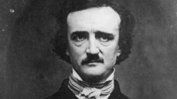 An image of well known author Edgar Allan Poe