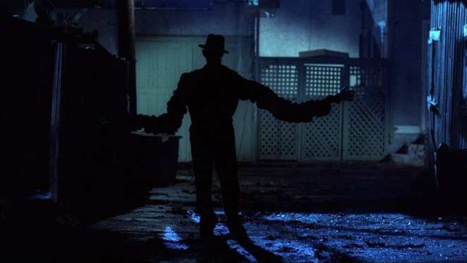 Wes Craven's original A Nightmare On Elm Street kept Freddy Krueger (Robert Englund) hidden in the shadows.