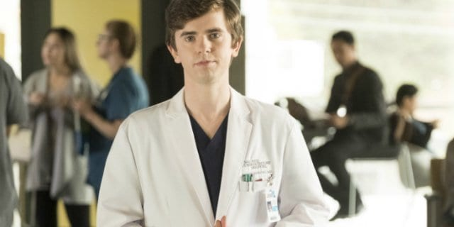 A picture of Freddie Highmore in character as Shaun Murphy